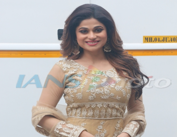 Mumbai: Actress Shamita Shetty seen at a studio in Mumbai's Goregaon, on April 16, 2019. (Photo: IANS)