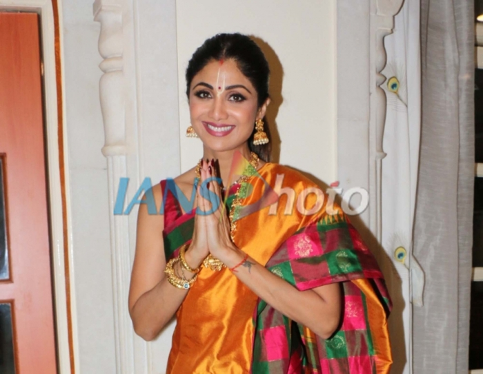Actress Shilpa Shetty at ISKCON temple, on the occasion of Ram Navami festival, in Mumbai, on April 14, 2019. (Photo: IANS)