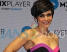 Actress Mandira Bedi at MX Player's five original series launch, in Mumbai on Feb 19, 2019. (Photo: IANS)