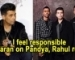 I feel responsible: Karan Johar on Pandya, Rahul row